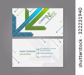 business card template with... | Shutterstock .eps vector #322231940