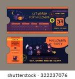 halloween party ticket card... | Shutterstock .eps vector #322237076