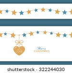 set of two borders which can be ... | Shutterstock .eps vector #322244030