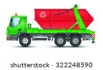 garbage truck with a container | Shutterstock . vector #322248590