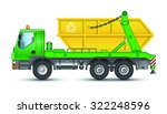 garbage truck with a container | Shutterstock . vector #322248596