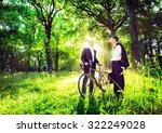 Stock photo green business partnership outdoors environment concept 322249028