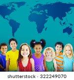 global globalization world map... | Shutterstock . vector #322249070