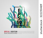 typographical poster template ... | Shutterstock .eps vector #322250489