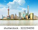 modern city skyline  shanghai... | Shutterstock . vector #322254050