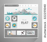 modern flat vector website