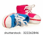 handmade blue and pink baby... | Shutterstock . vector #322262846