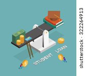 student loan concept in 3d... | Shutterstock .eps vector #322264913