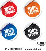 100 percent secure colorful... | Shutterstock .eps vector #322266623