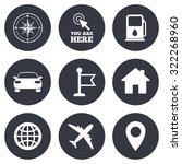 navigation  gps icons. windrose ... | Shutterstock .eps vector #322268960