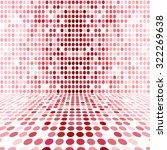 red dot empty perspective... | Shutterstock . vector #322269638
