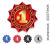 the number one  1 seal badge | Shutterstock .eps vector #322273424