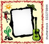 Mexican Fiesta Frame With...