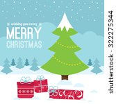 christmas tree and gifts... | Shutterstock .eps vector #322275344