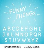 hand drawn letters set | Shutterstock .eps vector #322278356