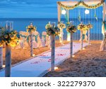beautiful wedding arch on the... | Shutterstock . vector #322279370