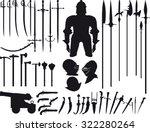big set is not fantasy  but... | Shutterstock .eps vector #322280264
