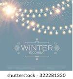 christmas card. winter design... | Shutterstock .eps vector #322281320