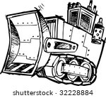 sketchy bulldozer vector