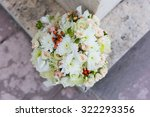 elegant bridal bouquet rounded... | Shutterstock . vector #322293356