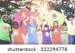children playing kite happiness ... | Shutterstock . vector #322294778