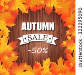 autumn sale  50  discount... | Shutterstock .eps vector #322295090