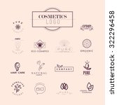collection of cosmetics logo... | Shutterstock . vector #322296458