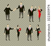 people meet in the office.... | Shutterstock .eps vector #322305974
