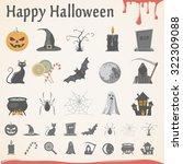 flat icons   halloween | Shutterstock .eps vector #322309088