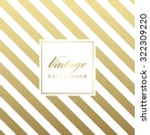 gold glittering diagonal lines... | Shutterstock .eps vector #322309220