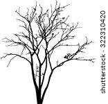 vector black silhouette of a...   Shutterstock .eps vector #322310420