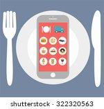 flat design colorful vector... | Shutterstock .eps vector #322320563