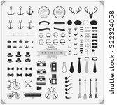 vintage vector design elements... | Shutterstock .eps vector #322324058