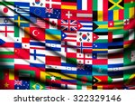 big flag background made of... | Shutterstock .eps vector #322329146