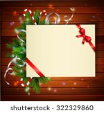 christmas background with paper ... | Shutterstock .eps vector #322329860