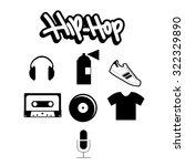 hip hop   Shutterstock .eps vector #322329890