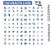 100 health care icons | Shutterstock .eps vector #322333994
