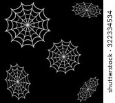 spider web icon vector white on ... | Shutterstock .eps vector #322334534