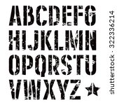 stencil plate sanserif font in... | Shutterstock .eps vector #322336214