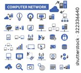 computer network icons | Shutterstock .eps vector #322336640