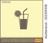 vector glass of juice icons    Shutterstock .eps vector #322339358