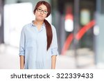 Sad Chinese Woman Boring