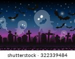 halloween cartoon  background....