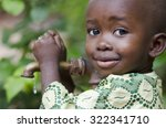 little black boy asking begging ... | Shutterstock . vector #322341710