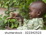 young african school boy... | Shutterstock . vector #322342523