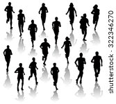 collection of running people... | Shutterstock .eps vector #322346270