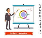 business man mentor delivering... | Shutterstock .eps vector #322347440