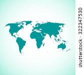 world map illustration | Shutterstock .eps vector #322347530
