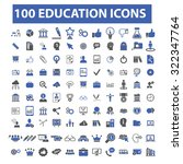 100 education icons | Shutterstock .eps vector #322347764
