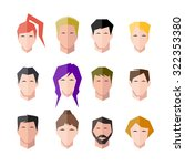 icons human face set | Shutterstock . vector #322353380